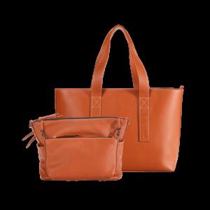 "INSIDER + Business Bag Travel ""Gina"", Karamell, mit Trolleyband"