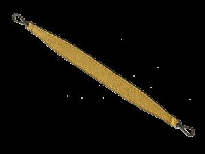 Kurzgurt Narbleder  in Farbe Maisgelb